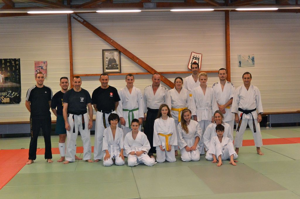Entraînement Aïkido-Karate Defense training 19-12-2014